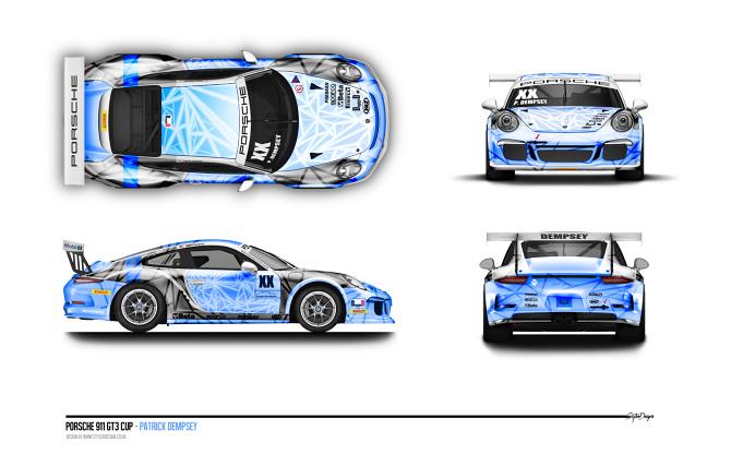 Porsche 911 Gt3 Livery Patrick Dempsey Stylerdesign
